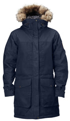 Fjallraven Barents Parka Winter Insulated Coat Hooded Jacket - Dark Navy - Mens