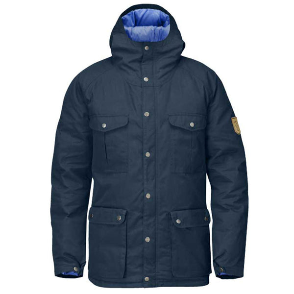 Fjallraven Greenland Down Jacket Hooded - Mountain Grey - Mens