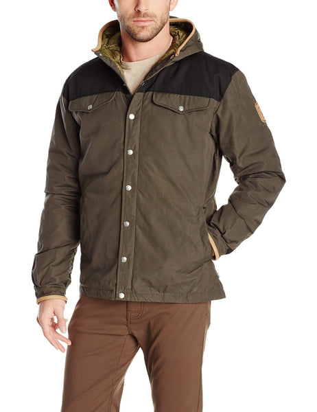 Fjallraven Greenland No. 1 Winter Hooded Down Jacket - Mountain Grey/Black - Mens