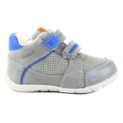 Geox Kaytan Fashion Sneaker Shoe - Grey/Royal - Boys