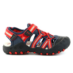 Geox Kyle 5 Dress Sandal - Navy/Red - Boys