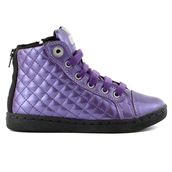 Geox J Creamy Fashion Sneaker Shoe - Violet - Boys