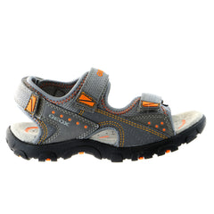 Geox Strada 13 Fisherman Dress Sandal - Grey/Orange - Boys