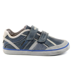 Geox JR Kiwi Boy 42 Leather Fashion Sneaker Shoe - Navy - Boys