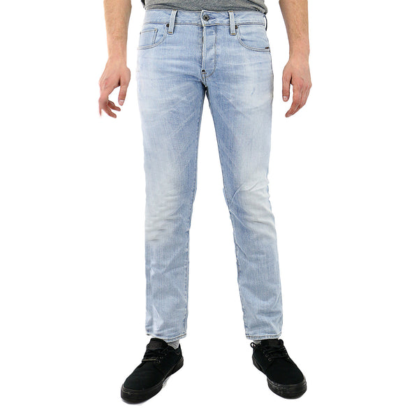 G-Star Attacc Straight Leg Nippon Stretch Denim Jeans - Light Aged - Mens