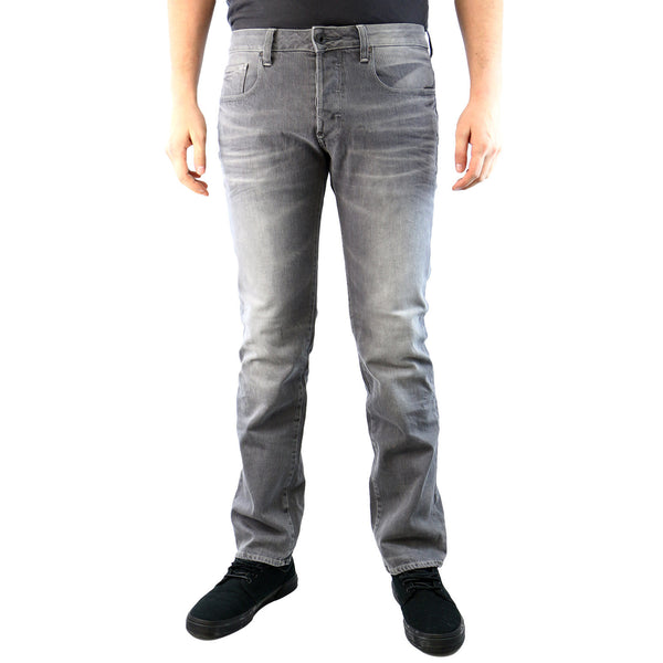 G-Star Attac Straight COJ Stretch Denim Jean - Light Aged Grey - Mens