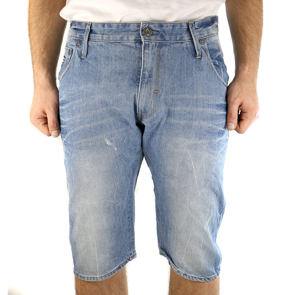G-Star Arc 3D Loose Tapered Bermuda In Retton Denim 1/2 Short Pants - Light Aged - Mens