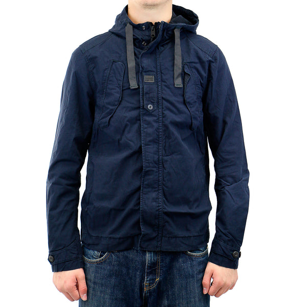 G-Star Benin Overshirt Hooded Jacket - Mazarine Blue - Mens