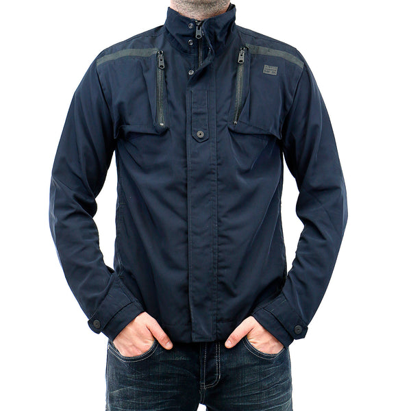 G-Star Crad Overshirt Jacket - Mazarine Blue - Mens