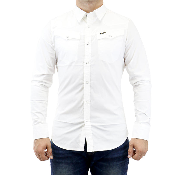 G-Star Tailor Shirt L/S Button Down Fashion Shirt - White - Mens