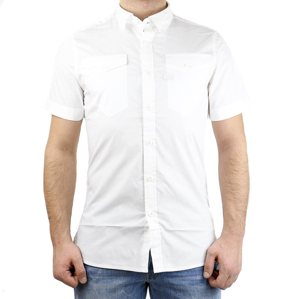 G-Star Tacoma SS Button Down Shirt - White - Mens