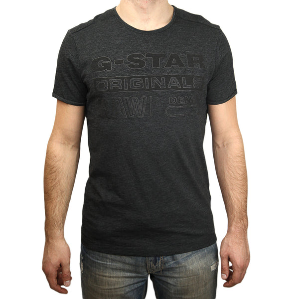 G-Star Basil Crew Neck Short Sleeve Tee Shirt - Heron - Mens