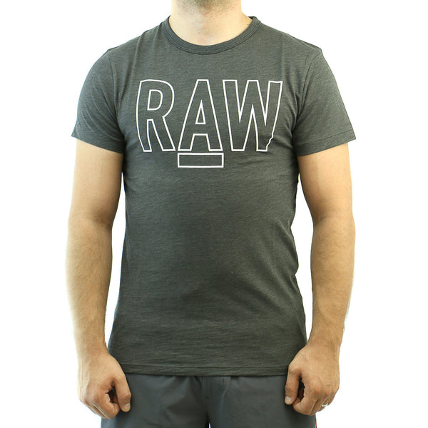 G-Star Basswood 1 Regular Tee Fashion T-Shirt - Raven - Mens