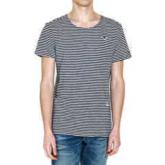 G-Star Omaros Striped T-Shirt Fashion Tee - Indigo/White - Mens