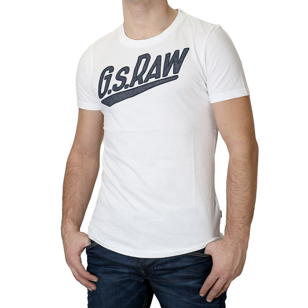 G-Star Joakim R SS Fashion Tee T-Shirt - White - Mens