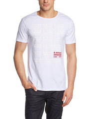 G-Star Ritzien Long T-Shirt Fashion Tee - White - Mens