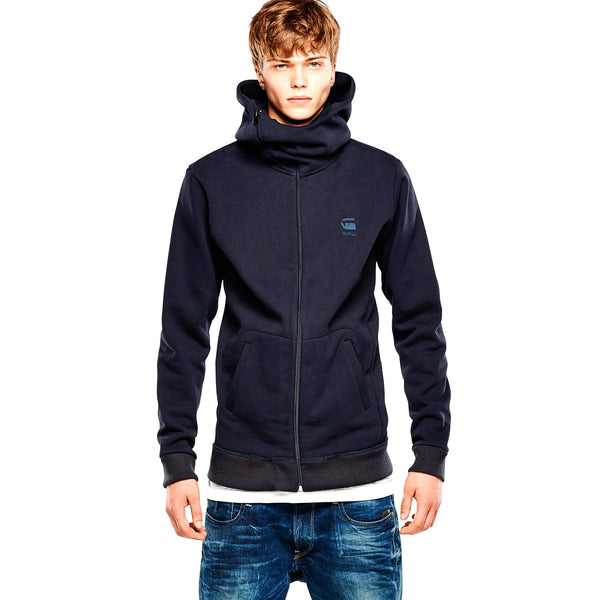 G-Star RAW Aero Tunnel Hooded Vest Fashion Jacket - Mazarine Blue - Mens