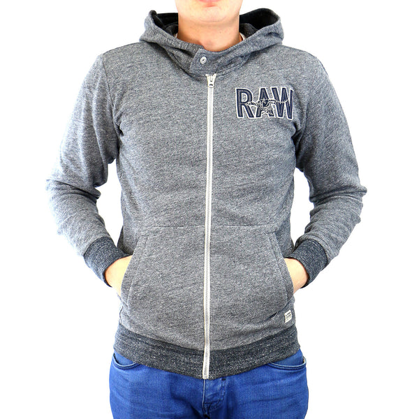 G-Star Limbar Hooded Vest Sweat Jacket - Raw Grey Heather - Mens