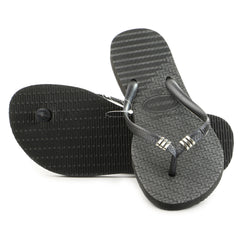 Havaianas Slim Tribal Thong Flip Flop Sandal - Black - Womens