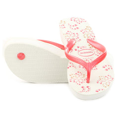 Havaianas High Light II Thong Flip Flop Sandal - White/Pink - Womens