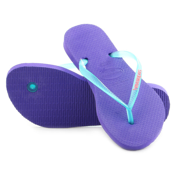 Havaianas Slim Logo Pop Up Thong Flip Flop Sandal - Ice/Violet - Womens
