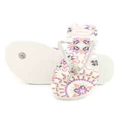 Havaianas Slim Thematic Thong Flip Flop Sandal - White - Womens
