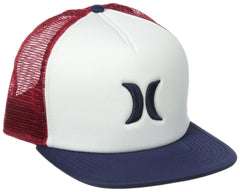 Hurley Blocked Trucker Hats  - Red/White - Mens