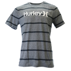 Hurley One And Only Rugby Stripe Premium Tee Athletic T Shirt - Mens