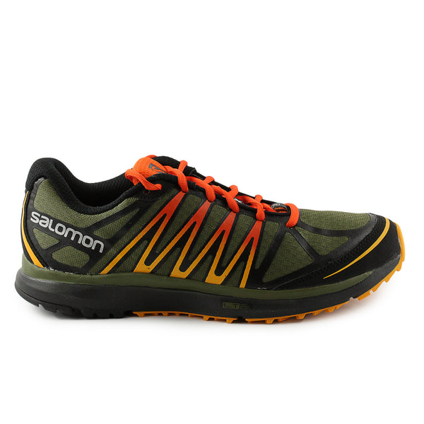 Salomon X-Tour Trail Running Shoe - Green/Black/Yellow (Mens)
