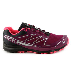 Salomon Sense PRO W Trail Running Shoe - Purple/Black/Pink (Womens)