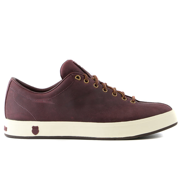 K-Swiss Clean Classic P   Sneaker - Burgundy/Antique White/Dark Gum - Mens