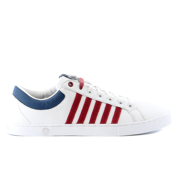 K-Swiss Adcourt 72 SO Sneaker - White/Merlot/Insignia Blue  - Mens