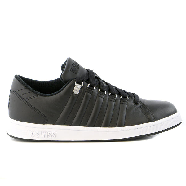K-Swiss Lozan III 90's Court Style Tennis Sneaker Shoe - Black/White - Mens