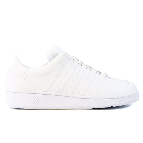 K-Swiss Classic Vintage Updated Iconic Tennis Sneaker Shoe - Black/White - Mens