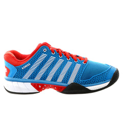 K-Swiss Hypercourt Express Tennis Sneaker Shoe - Methyl Blue/Fiery Red/White - Mens