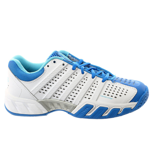 K-Swiss Bigshot Light 2.5 Lightweight Tennis Sneaker Shoe - White/Blue Aster/Bachelor Button - Womens