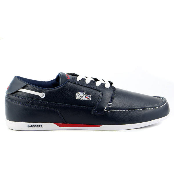 Lacoste Dreyfus Moccasin Loafer Boat Shoe - Dark Blue/White - Mens