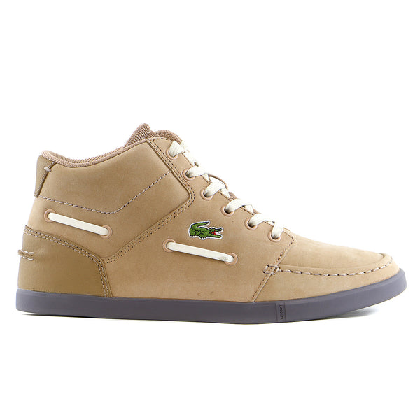 Lacoste Crosier Sail Mid RA LEM Moccasin Fashion Sneaker Shoe - Brown - Mens