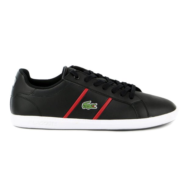 Lacoste Graduate EVO Fashion Sneaker Shoe - Black/Dark Red - Mens