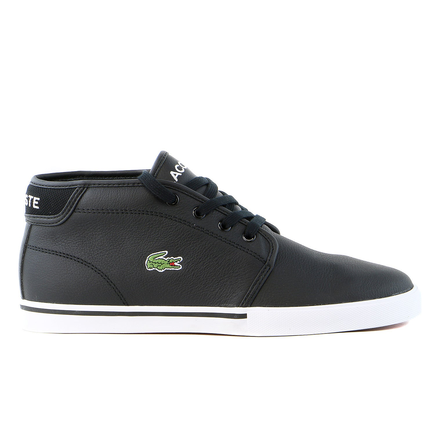 53bad168bf66 Lacoste Ampthill LCR Mid Fashion Sneaker Shoe - Black - Mens - Shoplifestyle