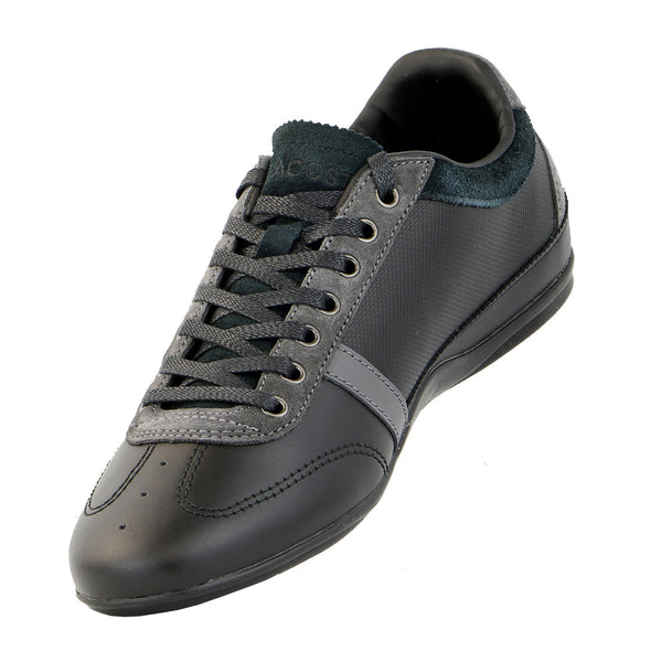 Lacoste Misano Fashion Sneaker Shoe  - Black/Dark Grey - Mens