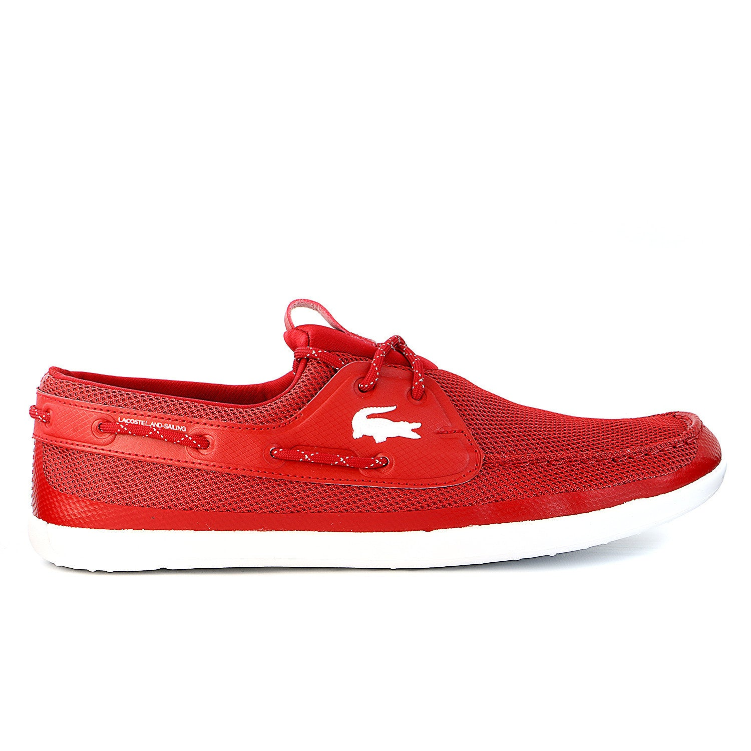 3aaf0791d3ac Lacoste Landsailing Boat Sneaker Shoes - Red - Mens - Shoplifestyle