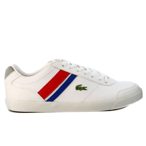 Lacoste Comba PRI Fashion Sneaker Shoe - White/Red - Mens