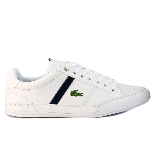 Lacoste Chaymon CR Fashion Sneaker Shoes  - White/Dark Blue - Mens
