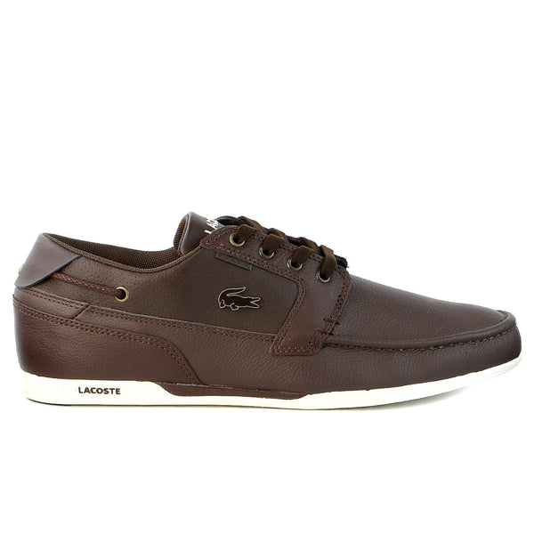 Lacoste Dreyfus LX US SPM Moccasin Boat Sneaker Shoe - Brown/Dark Brown - Mens
