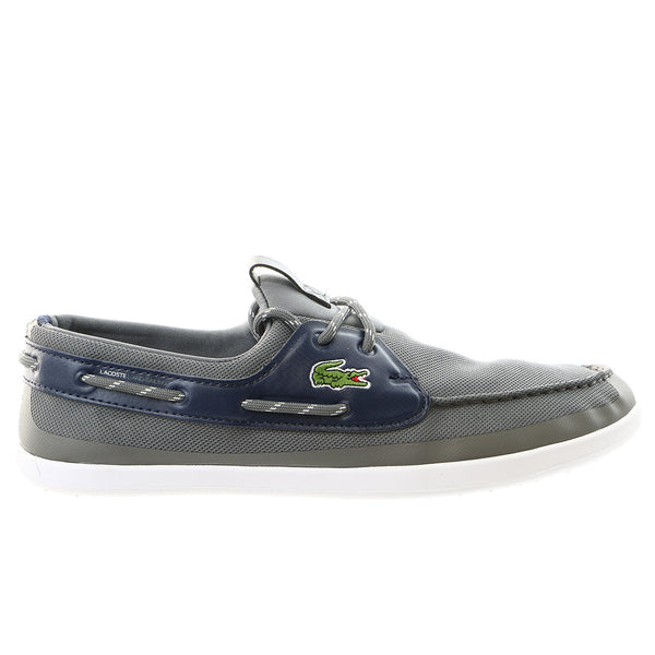 Lacoste Light and Sailing PIQ Moccasin Boat Shoe - Dark Blue/Red - Mens