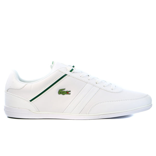 Lacoste Giron HTB SPM Leather Fashion Sneaker Shoe - White/Green - Mens