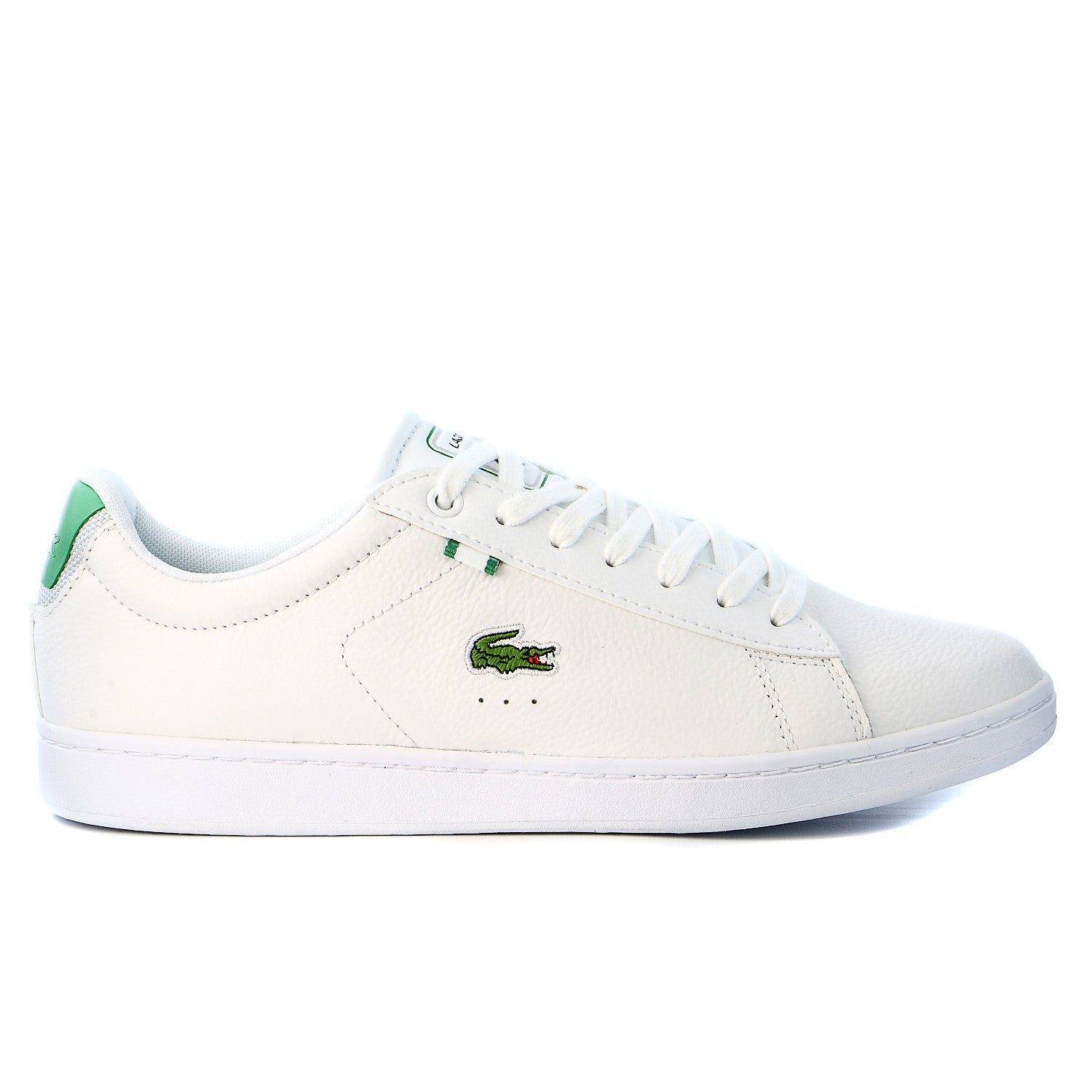 9512ec6859c90 Lacoste Carnaby EVO Leather Training Sneaker Shoe - White Green - Mens -  Shoplifestyle