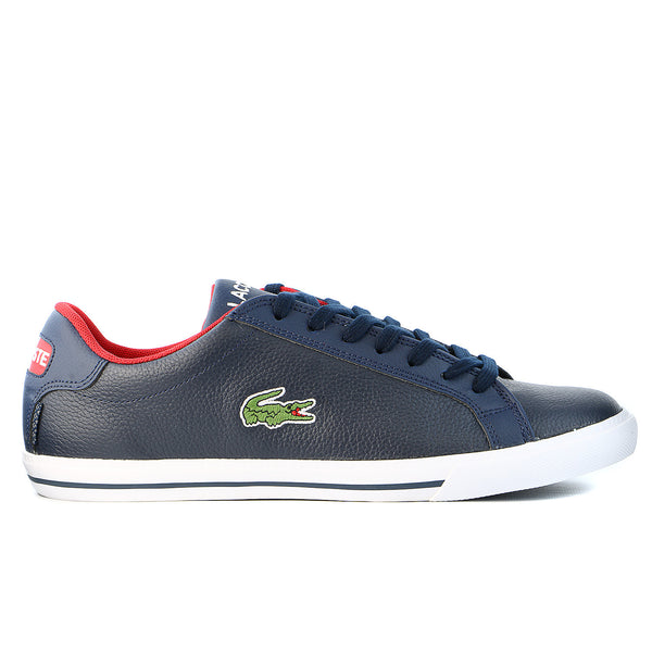 Lacoste Graduate Vulc TS US Fashion Sneaker Shoe - Dark Blue/Red - Mens