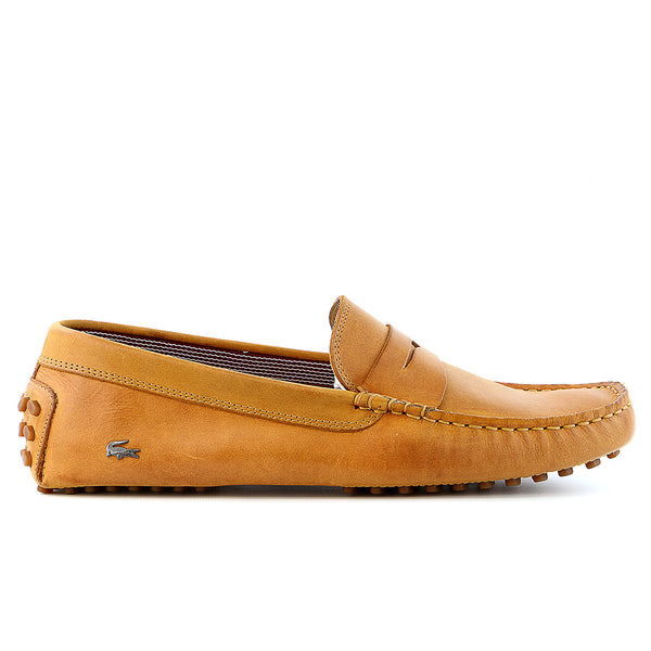 Lacoste Concours 16 SRM Leather Moccasin Loafer Shoe - Tan - Mens